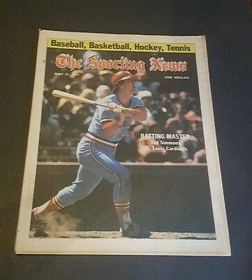 The Sporting News May 21 1977 Ted Simmons Batting Master St. Louis Cardinals