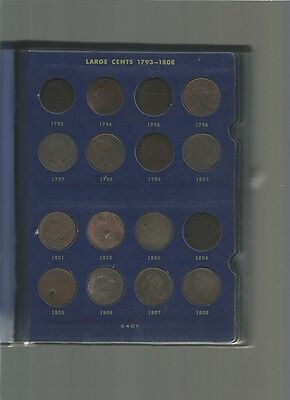 near complete low grade large cents 1794 to 1857