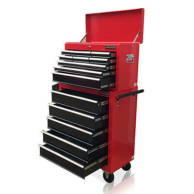 379 Us Pro Tools Red Black Affordable Tool Chest Rollcab Box Roller Cabinet