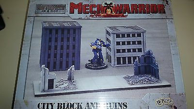 Mechwarrior Gale Force 9 Battlefield in a Box City Block and Ruins (NO MECH)