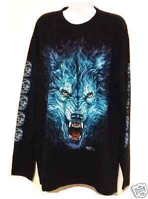 Angry Wolf Long Sleeve T Shirt - Size XL - New