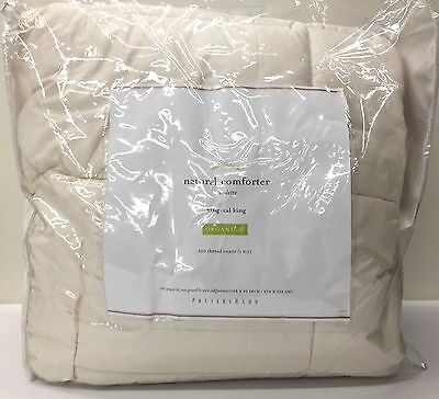 NEW Pottery Barn New Natural Comforter/Down Alternative KING Duvet Insert