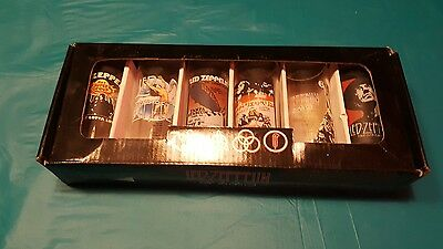 Led Zeppelin Collector's Series Shooters Set Of 6 Shot Glasses New.