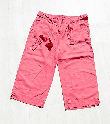 FAB ladies 'MARKS AND SPENCER' LINEN CROPPED Trousers size UK 14