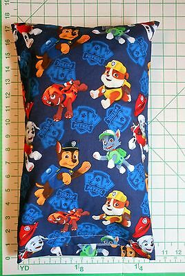 PAW PATROL Characters on Navy  -  Small Pillow Case & Travel / Toddler Pillow
