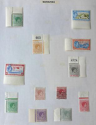 Bahamas 1938-55 Mounted Mint Issues 1 Album Page Cat.$22  Canada Shipping $1.99