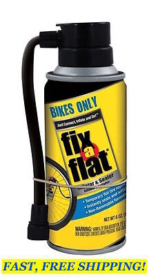 FIX-A-FLAT for BIKES ONLY, S60136 6 oz Bicycle Tire Inflator Slime Sealer Repair