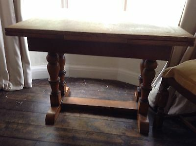 Large 20s/30s Antique Table Extending Leafs Real Wood Square Solid