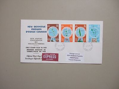 New Hebrides MAPS Express fdc