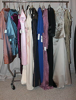 NWT Lot of 11 Short & Long formal dresses/gowns, Variety sizes,designers,colors