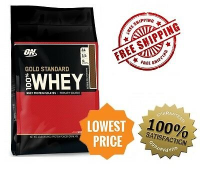 Optimum Nutrition 100% Whey Gold Standard -10LB - 4.5KG - Double Rich Chocolate