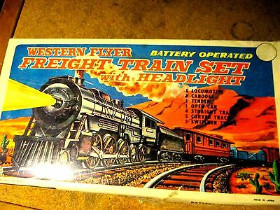 Western Flyer Freight Train Set with box.