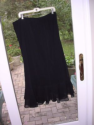 #76 Women's Plus Size Long Full Black Skirt~ Victorian Dickens Costume 22W  3X