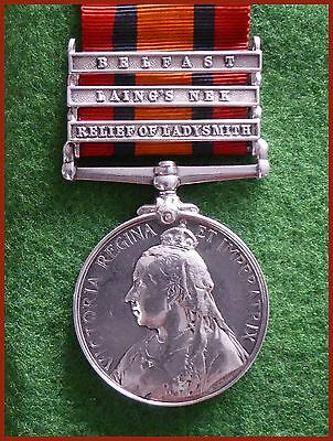 Boer War Queen's South Africa Medal Leicestershire Regiment Holmes alias Rainbow