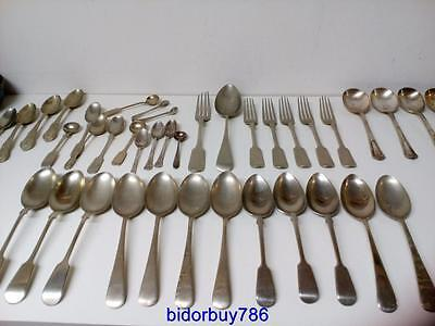 Job lot of vintage silver cutlery