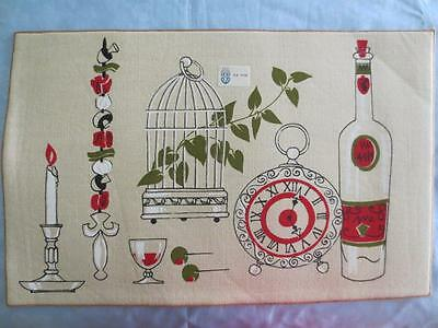 Vintage Parisian Prints Placemats Set of 3 New Old Stock