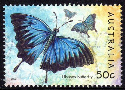 Australia 2003 Bugs And Butterflies Used Sheet Format