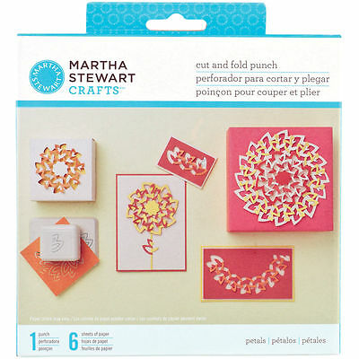 Martha Stewart Crafts Cut And Fold Punch ~ Petals ~
