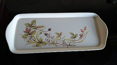 """M&S Marks and Spencer """"Harvest"""" Melamine Snack / Sandwich Tray (with Label)"""