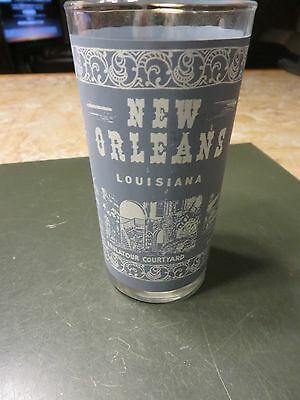 Kitchy New Orleans Souvenir Glass Tumbler Cathedral French Market Vieux Carre