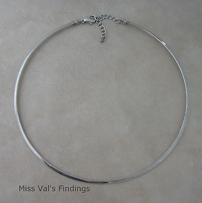 1 stainless steel neckwire necklace choker base with extrender