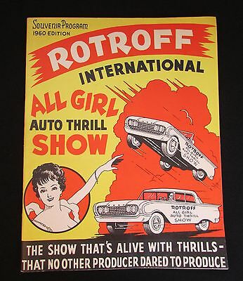 Nice 1960 Rotroff International All Girl Auto Thrill Show Program Illustrated