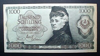 Austria ~ 1000 Schillings 1966 (Not Sure What This Note Is - Copy / Trial?)