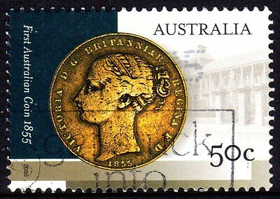 Australia 2005 First Coin Used Sheet Format