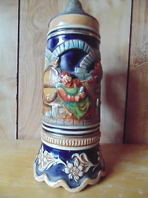 german beer stein  with music box
