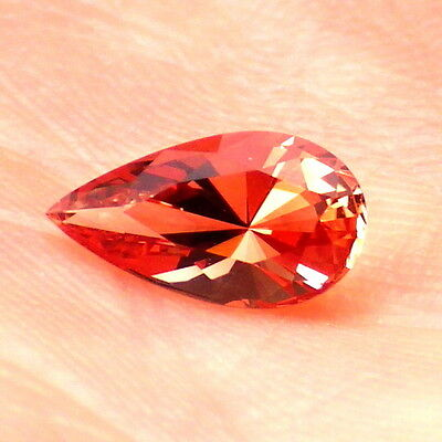 PADPARADSCHA OREGON SUNSTONE 0.71Ct FLAWLESS-SMALL RING SIZE-FOR JEWELRY!