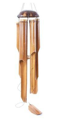 Fairtrade Extra Large Bamboo And Coconut Wind Chimes 50Cm Chimes New