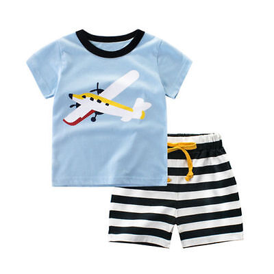 2PCS Toddler Kids Baby Girls T-shirt Tops+Short Pants Summer Outfits Set Clothes