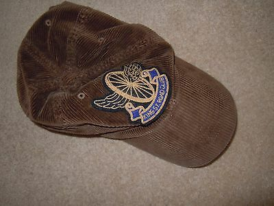 RALPH LAUREN Rugby Brown Cord King St Road Club Baseball Cap