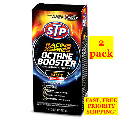 2 Pack! Stp Racing Series Octane Booster Made With Mmt Powerful Formula 16 Fl Oz