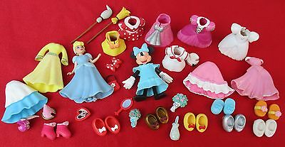 Disney fashion Minnie Mouse cendrillon Polly Pocket : robes, chaussures, divers