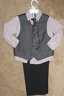 Dockers-Toddler-Boys-4pc-Pants-Shirt-Vest-amp-Tie-Outfit-Size-3T-  Dockers-Toddl