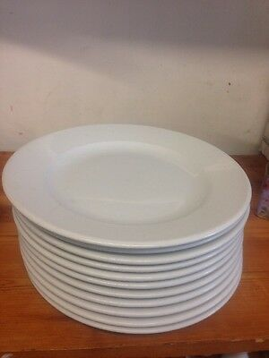 Catering X 11  Large White Plates 30 Cm