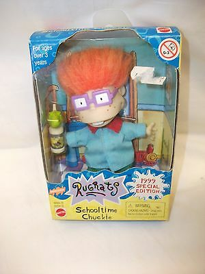 Vintage Mattel Rugrats School Time Chuckie Doll Figure ~ 1999 Spcial Edition