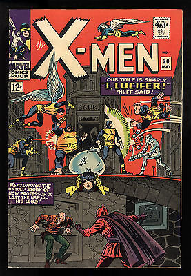 X-Men (1963) #20 1st Print Lucifer Blob Young Xavier Roy Thomas Werner Roth FN+