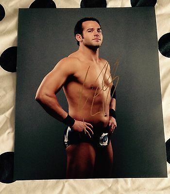 wwe NXT roderick strong signed autographed 8x10 photo rare