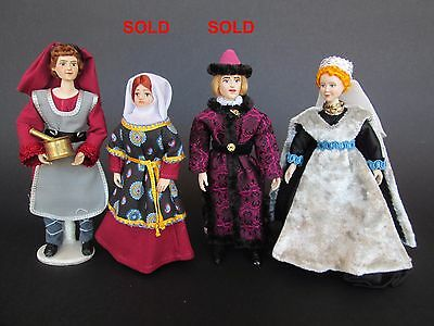 1:12 MEDIEVAL doll for dollhouse Dollshouse dolls by Paola&Sara Miniature
