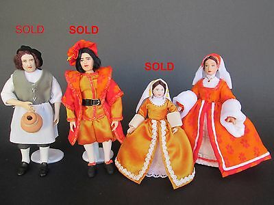 1:12 TUDOR doll for dollhouse Dollshouse dolls by Paola&Sara Miniature
