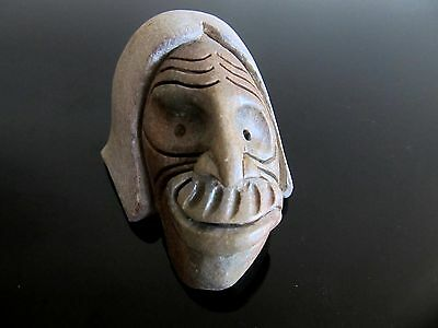 "Authentic Native Art Iroquois ""False Face"" Sculpture, Six Nations, ON, Canada"