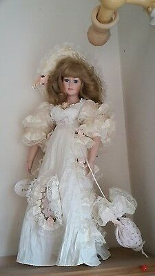 Eleanor Porcelain Doll and Stand