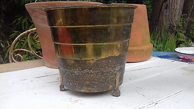 Vintage brass planter.art deco?? clearance barnfind