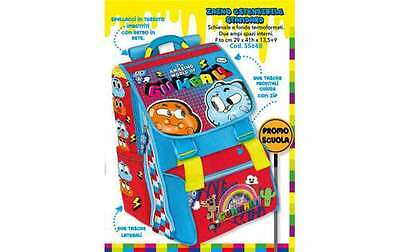 Zaino Estensibile The Amazing World Of Gumball Con Astuccio 3 Zip