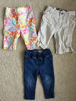 Lot Of 3 Toddler Girl Pants By Gymboree  And Baby Gap Size 12-18 Months.