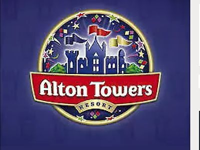 2 X Alton towers theme park tickets For Saturday 19th August 2017