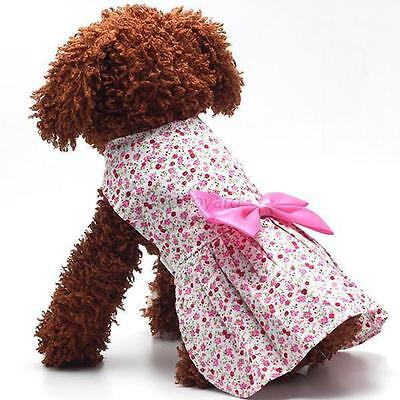 Puppy Dog Cat Tutu Dress Lace Skirt Pet Dog Costume Apparel Clothes Red