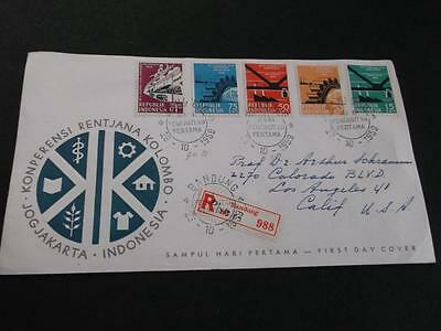 Indonesia 1959 Registered Fdc Cover To Usa      Rs